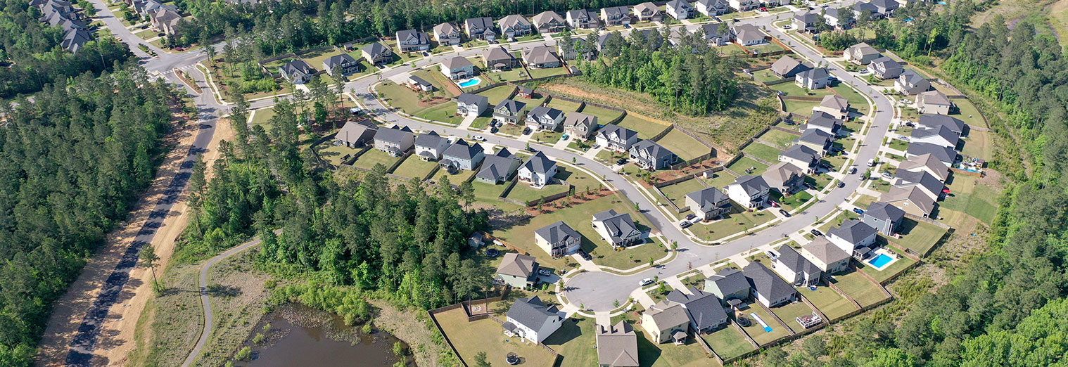 Home Slide - Drone Neighborhood 1 | Whispering Pines